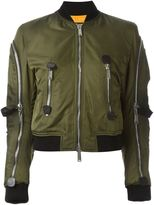 DSQUARED2 strap detail aviator jacket