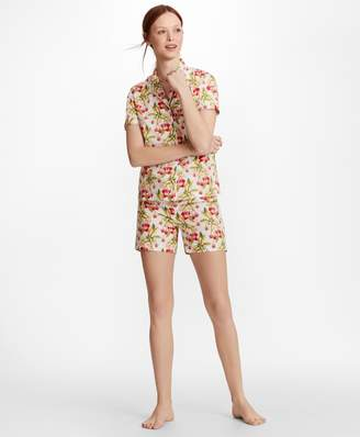 Brooks Brothers Cherry-Print Supima Cotton Poplin Short Pajama Set