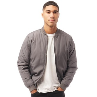 French Connection Mens Baseball Wad Tech Jacket Solid Dark Charcoal