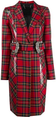 Philipp Plein 108 Tartan-Print Trench Coat