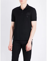 Alexander Mcqueen Stallion-embroidered Cotton Polo Shirt