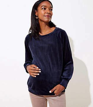 LOFT Maternity Velvet Sweatshirt