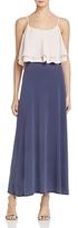Freeway Ruffle Color-Block Maxi Dress
