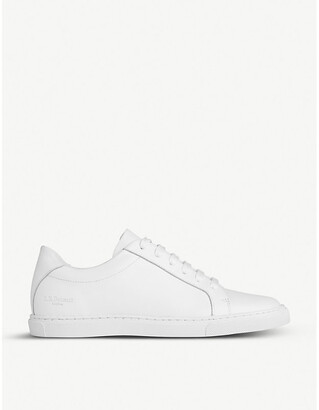 LK Bennett Jack tonal leather low-top trainers