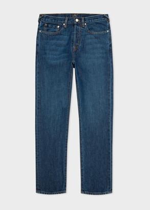 Paul Smith Men's Classic-Fit 'Organic Salt & Pepper' Mid-Wash Jeans