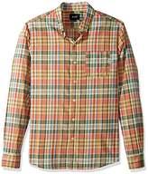 HUF Men's Helm Plaid Long Sleeve Shirt