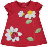 Mayoral Short-Sleeve Stretch Jersey Daisy Dress, Red, Size 3-24 Months
