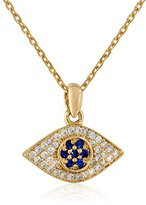 Tai 18k Plated Evil Eye Chain Necklace