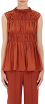 Marni Women's Smocked Crepe Blouse-RED