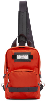 Givenchy Red and Black Small Downtown Sling Backpack