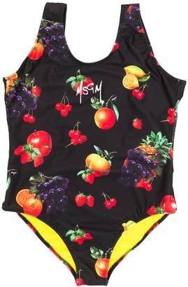 Msgm Kids TEEN fruit print swimsuit