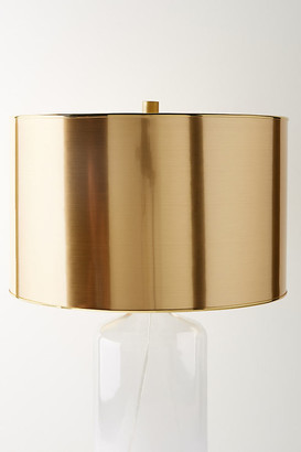 Anthropologie Metallic Lamp Shade By in Gold Size M