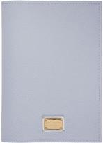 Dolce & Gabbana Blue Leather Passport Holder