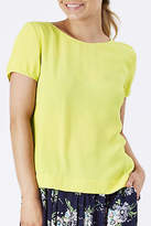 Emily And Fin NEW Womens Blouses Etta Top Chartreuse