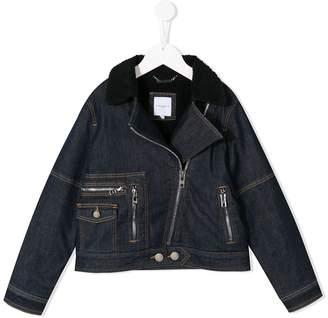 Givenchy Kids zipped denim jacket