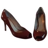 Max Mara Caramel peep toe high heels