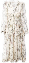 Zimmermann maple print frill midi dress