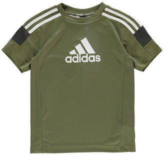 adidas Boy's Tri-Coloured T-Shirt