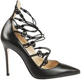 Gianvito Rossi Cut-out Leather Pumps