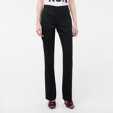 Paul Smith Women's Slim-Fit Black Wool-Twill Trousers With Waist Zip