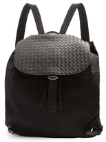 Bottega Veneta Canvas And Leather Backpack