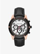 Michael Kors Caine Rose Gold-Tone and Silicone Watch