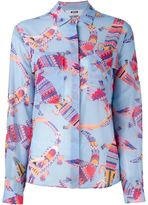 MSGM crocodile print shirt