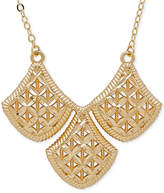 Macy's Filigree Triple Drop Pendant Necklace in 10k Gold