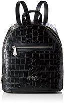 Armani Jeans Zaino, Women's Backpack Handbag, Schwarz (Nero), 31x14x25 cm (B x H T)