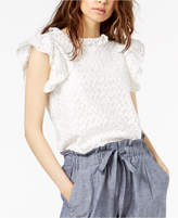 Jill Stuart Ruffle-Trim Embroidered Top, Created for Macy's