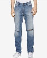 Calvin Klein Jeans Men's Straight-Fit Essential Blue Jeans
