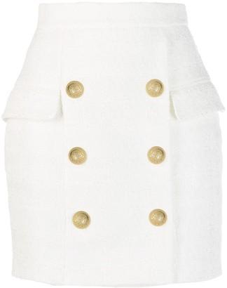 Balmain x Julian Fashion tweed mini skirt
