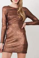 Yipsy Metallic Bodycon Dress