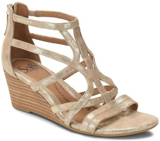 Sofft Strappy Leather Wedge Sandals - Malindi
