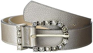 Leather Rock River Belt (Silver) Women's Belts