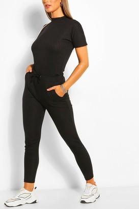 boohoo Bandage Boxy T-Shirt & Jogger Set