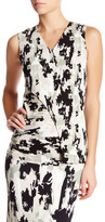 HUGO BOSS Endria Printed V-Neck Shell