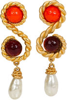 One Kings Lane Vintage Chanel Runway Oversize Gripoix Earrings