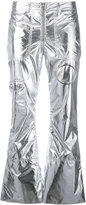 Marques Almeida Marques'almeida - metallic cropped trousers - women - Polyester/Acetate/Cupro - XS