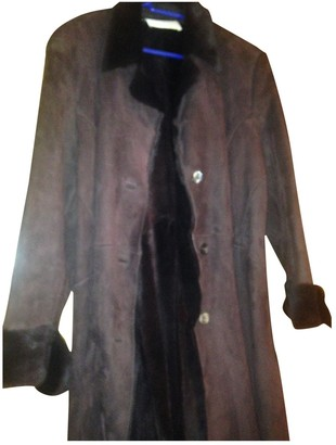 Valentino Brown Shearling Coat for Women Vintage