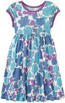 Pink Chicken Maya Dress (Toddler/Kid) - Blue Radiance Floral - 2 Years