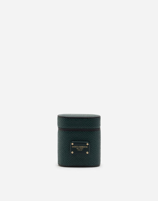Dolce & Gabbana Airpod Case In Dauphine Calfskin