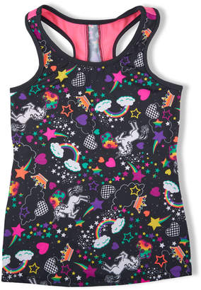 Girl Power Sport Unicorn Print Active Tank Top, Size 6-12