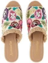 Accessorize Ella Embroidered Slider Flat Sandal