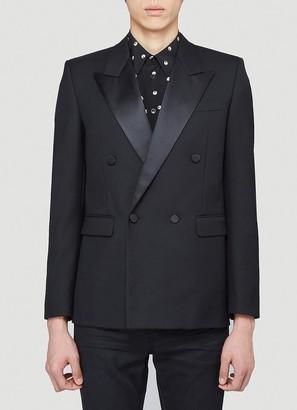 Saint Laurent Double-Breasted Square-Cut Long Tuxedo Jacket