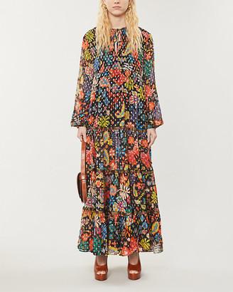 Rixo Lori floral-print woven maxi dress