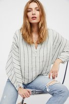 Striped Dolman Swing Blouse by Free People x CP Shades