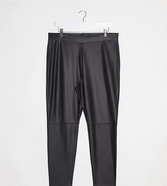 ASOS DESIGN Curve leather look legging