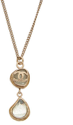 Chanel Gold-Tone & Crystal Necklace