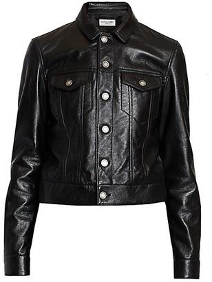 Saint Laurent Leather Trucker Jacket